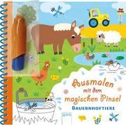 Cover-Bild zu Ausmalen mit dem magischen Pinsel. Bauernhoftiere von Ledesma, Sophie (Illustr.)