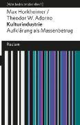 Cover-Bild zu Horkheimer, Max: Kulturindustrie