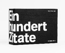 Cover-Bild zu Brumnjak, Boris (Hrsg.): 100 Zitate