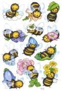 Cover-Bild zu HERMA Schmucketiketten Decor, Lustige Bienen