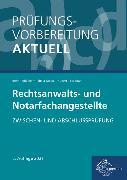 Cover-Bild zu Adelhelm, Ann-Sophie: Prüfungsvorbereitung aktuell - Rechtsanwalts- und Notarfachangestellte