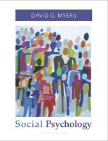 Cover-Bild zu Myers, David G.: Social Psychology