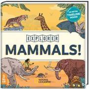Cover-Bild zu Zeitreise Säugetiere. 100 Spezies auf 180 Zentimetern von Exley, William