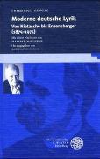 Cover-Bild zu Sengle, Friedrich: Moderne deutsche Lyrik