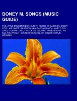 Cover-Bild zu Boney M. songs (Music Guide)