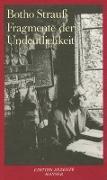 Cover-Bild zu Fragmente der Undeutlichkeit von Strauß, Botho