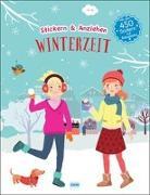 Cover-Bild zu Winterzeit (Anziehpuppen, Anziehpuppen-Sticker) von Liepins, Carolin (Illustr.)