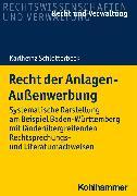 Cover-Bild zu Recht der Anlagen-Außenwerbung (eBook) von Schlotterbeck, Karlheinz