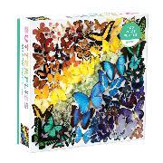 Cover-Bild zu Galison (Geschaffen): Rainbow Butterflies 500 Piece Puzzle