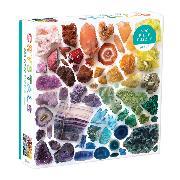 Cover-Bild zu Galison (Geschaffen): Rainbow Crystals 500 Piece Puzzle