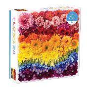 Cover-Bild zu Galison (Geschaffen): Rainbow Summer Flowers 500 Piece Puzzle