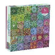 Cover-Bild zu Galison (Geschaffen): Succulent Spectrum 500 Piece Puzzle