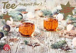Cover-Bild zu Tee-Adventskalender für Zwei 2021 - Teekalender - Adventskalender - Teesorten - Genusskalender - Advent-für-Zwei - 55,5 x 39 x 2 cm