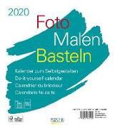 Cover-Bild zu Foto-Malen-Basteln Bastelkalender weiß 2020
