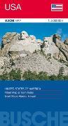 Cover-Bild zu Übersichtskarte USA. 1:5'000'000 von Busche Verlagsgesellschaft mbH (Hrsg.)