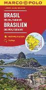 Cover-Bild zu MARCO POLO Kontinentalkarte Brasilien, Bolivien, Paraguay, Uruguay 1:4 000 000. 1:4'000'000