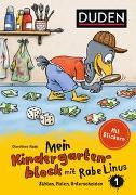 Cover-Bild zu Mein Kindergartenblock mit Rabe Linus (1) - Zählen, Malen, Unterscheiden von Raab, Dorothee