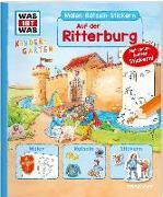 Cover-Bild zu WAS IST WAS Kindergarten Malen Rätseln Stickern Auf der Ritterburg von Schuck, Sabine