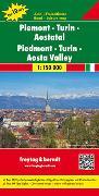 Piemont - Turin - Aostatal, Autokarte 1:150.000, Top 10 Tips. 1:150'000 von Freytag-Berndt und Artaria KG (Hrsg.)