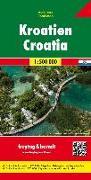 Kroatien, Autokarte 1:500.000. 1:500'000 von Freytag-Berndt und Artaria KG (Hrsg.)