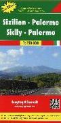 Sizilien - Palermo, Top 10 Tips, Autokarte 1:150.000. 1:150'000 von Freytag-Berndt und Artaria KG (Hrsg.)