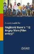 """Cover-Bild zu A Study Guide for Reginald Rose's """"12 Angry Men (Film Entry)"""" von Gale, Cengage Learning"""