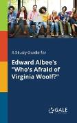 """Cover-Bild zu A Study Guide for Edward Albee's """"Who's Afraid of Virginia Woolf?"""" von Gale, Cengage Learning"""