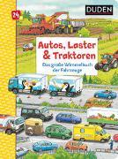 Cover-Bild zu Braun, Christina: Duden 24+: Autos, Laster & Traktoren: Das große Wimmelbuch der Fahrzeuge
