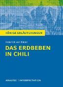 Cover-Bild zu Das Erdbeben in Chili von Heinrich von Kleist. Textanalyse und Interpretation mit ausführlicher Inhaltsangabe und Abituraufgaben mit Lösungen (eBook) von von Kleist, Heinrich