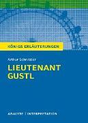 Cover-Bild zu Lieutenant Gustl. Königs Erläuterungen (eBook) von Schnitzler, Arthur