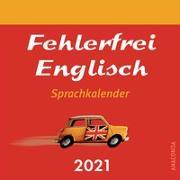 Cover-Bild zu Fehlerfrei Englisch - Sprachkalender 2021
