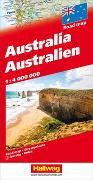 Australien Strassenkarte 1:4 Mio. 1:4'000'000 von Hallwag Kümmerly+Frey AG (Hrsg.)