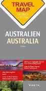 Reisekarte Australien 1:4.000.000. 1:4'000'000