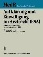 Cover-Bild zu Carstens, Thomas: Aufklärung und Einwilligung im Arztrecht (ESA)