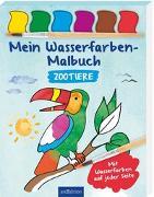 Cover-Bild zu Mein Wasserfarben-Malbuch Zootiere