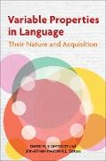 Cover-Bild zu Variable Properties in Language (eBook) von Lightfoot, David W. (Hrsg.)