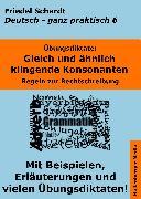 Cover-Bild zu Übungsdiktate: Gleich und ähnlich klingende Konsonanten. Regeln zur Rechtschreibung mit Beispielen und Wortlisten (eBook) von Schardt, Friedel