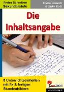 Cover-Bild zu Die Inhaltsangabe (eBook) von Schardt, Friedel