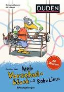 Cover-Bild zu Raab, Dorothee: Mein Vorschulblock mit Rabe Linus - Schwungübungen 1