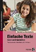 Cover-Bild zu Einfache Texte lesen und verstehen von Jaglarz, Barbara