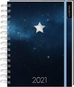 Cover-Bild zu Kalender mit Spiralbindung Sternenhimmel 2021