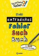 Cover-Bild zu Mein extradickes Fehler-Such-Buch (gelb) von Loewe Lernen und Rätseln (Hrsg.)