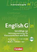 Cover-Bild zu English G 21, Vorschläge zur Leistungsmessung - Erweiterte Ausgabe D, Band 5: 9. Schuljahr, Leistungsmessung, CD-Extra (CD-ROM und CD auf einem Datenträger), Inhaltlich identisch mit 978-3-06-031992-3