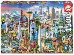 Cover-Bild zu Educa Puzzle. Symbols from North America 1500 Teile von Educa (Hrsg.)