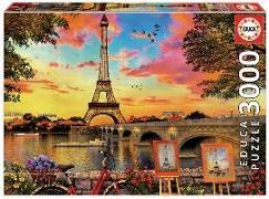 Cover-Bild zu Educa Puzzle. Sunset in Paris 3000 Teile von Educa (Hrsg.)