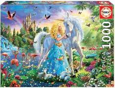 Cover-Bild zu Educa Puzzle. The Princess and the Unicorn 1000 Teile von Educa (Hrsg.)