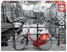 Cover-Bild zu Educa Puzzle. Amsterdam black & white 1000 Teile von Educa (Hrsg.)