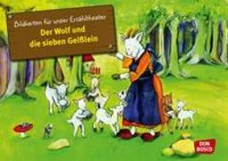 Cover-Bild zu Kamishibai Bildkartenset Der Wolf und die 7 Geißlein von Lefin, Petra