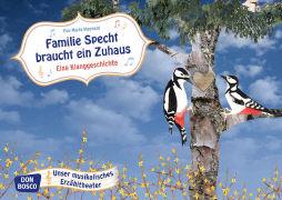 Cover-Bild zu Familie Specht braucht ein Zuhaus. Kamishibai Bildkartenset von Maywald, Eva-Maria