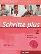 Cover-Bild zu Niebisch, Daniela: Schritte plus 2. A1/2. Kursbuch & Arbeitsbuch mit Audio-CD